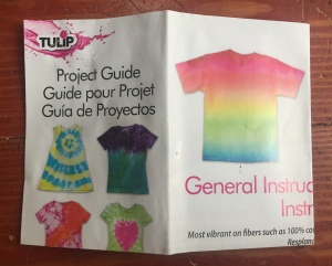 Tulip tie dye party kit project guide with different designs