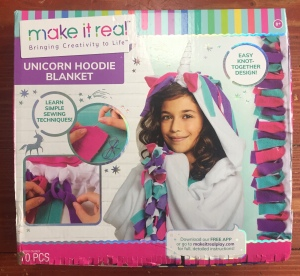 Make It Real unicorn hoodie blanket felt fabric arts and crafts kit for kids