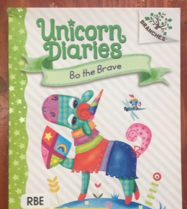 Bo the Brave Unicorn Diaries book cover by Rebecca Elliott