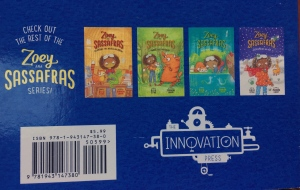 Zoey and Sassafras book by Asia Citro back cover with other book covers pictured