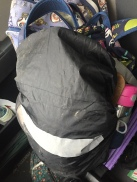 Black ZM-Sports Backpack Rain cover over child's backpack