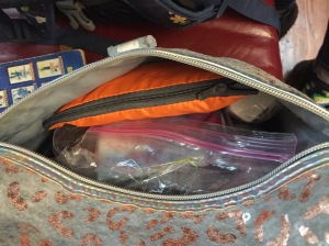 ZM-Sports Backpack rain cover in storage bag inside front pocket of chid's backpack