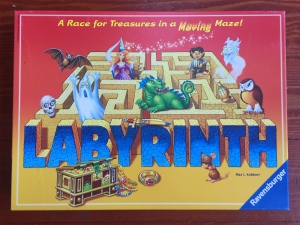 Labyrinth board game in box