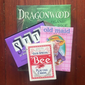 card games for kids Dragonwood Set Old Maid and standard deck of cards for Nifty 50