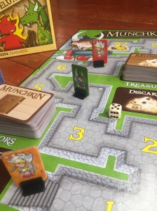 Munchkin board game set up