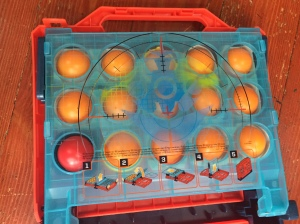 Battleship Shots game packed inside carrying case