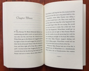 Chapter fifteen start pages from Because of Winn-Dixie by Kate DiCamillo