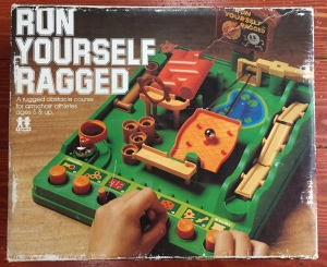 Run Yourself Ragged marble obstacle game in box