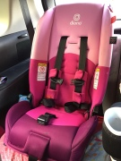 Diono Radian 3RX convertible car seat installed forward facing in third row of Mazda5