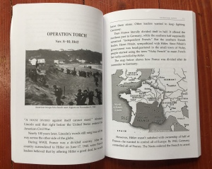 Chapter beginning on Operation Torch from Great Battles for Boys WW2 Europe book by Joe Giorello