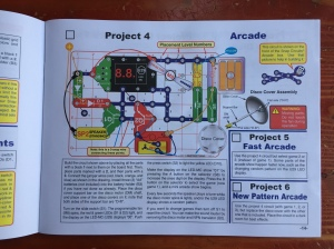 Project 4 instructions from Snap Circuit Arcade instruction manual