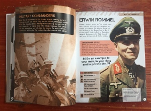 World War II Visual Encyclopedia reference book for kids Military Commanders Erwin Rommel page
