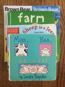 best board books for toddlers Moo Baa La La La Sandra Boynton Sheep in a Jeep Nancy Shaw Bright Baby Books Farm Animals