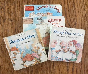 Sheep in a Jeep board books series by Nancy Shaw