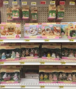 Calico Critters shelves at craft store