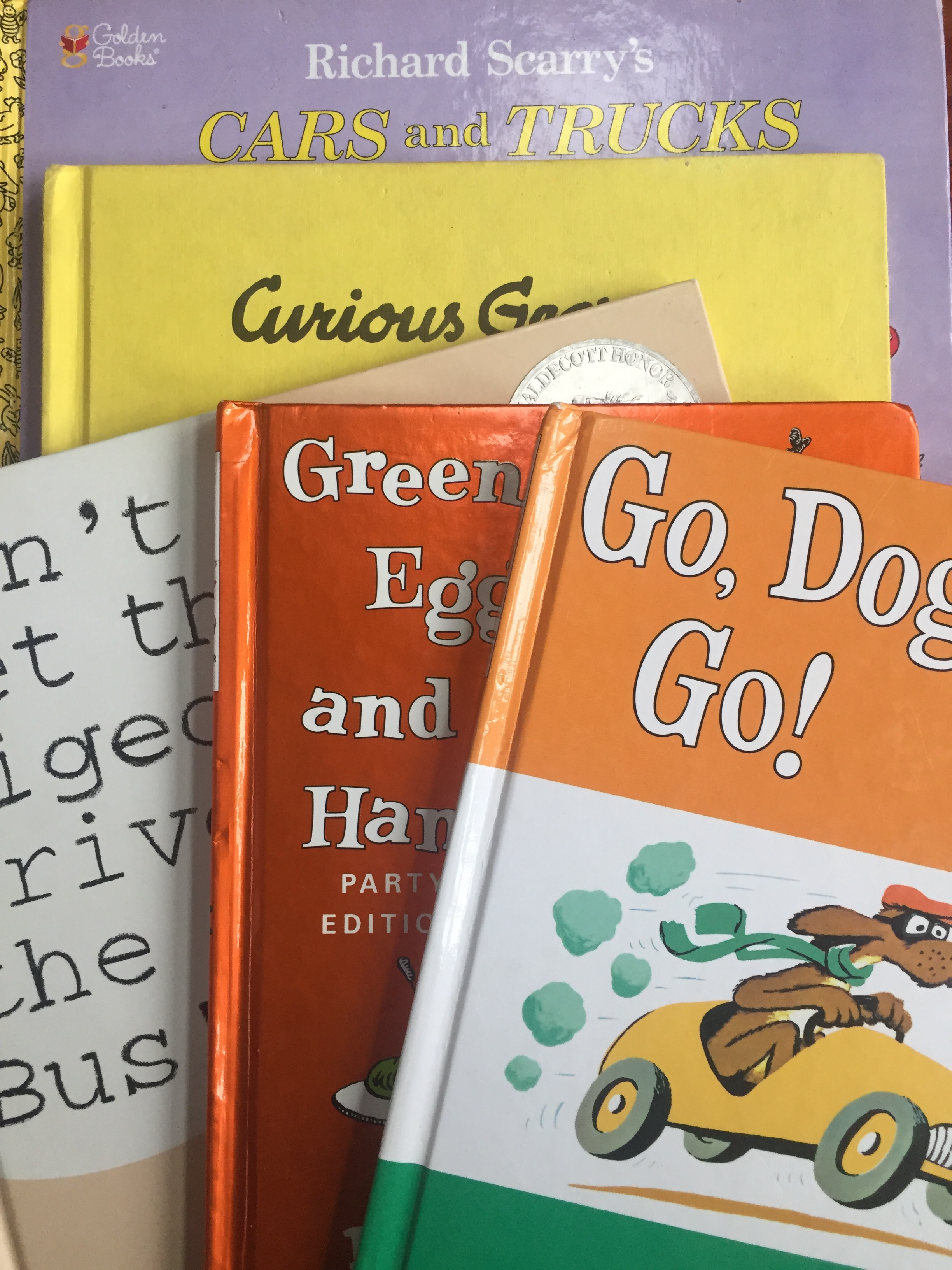 Classic books for toddlers Richard Scarry Dr. Seuss Curious George Go Dog. Go! Don't Let the Pigeon Drive the Bus