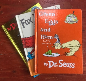 Dr. Seuss books Green Eggs and Ham Red Fish Blue Fish Fox in Socks