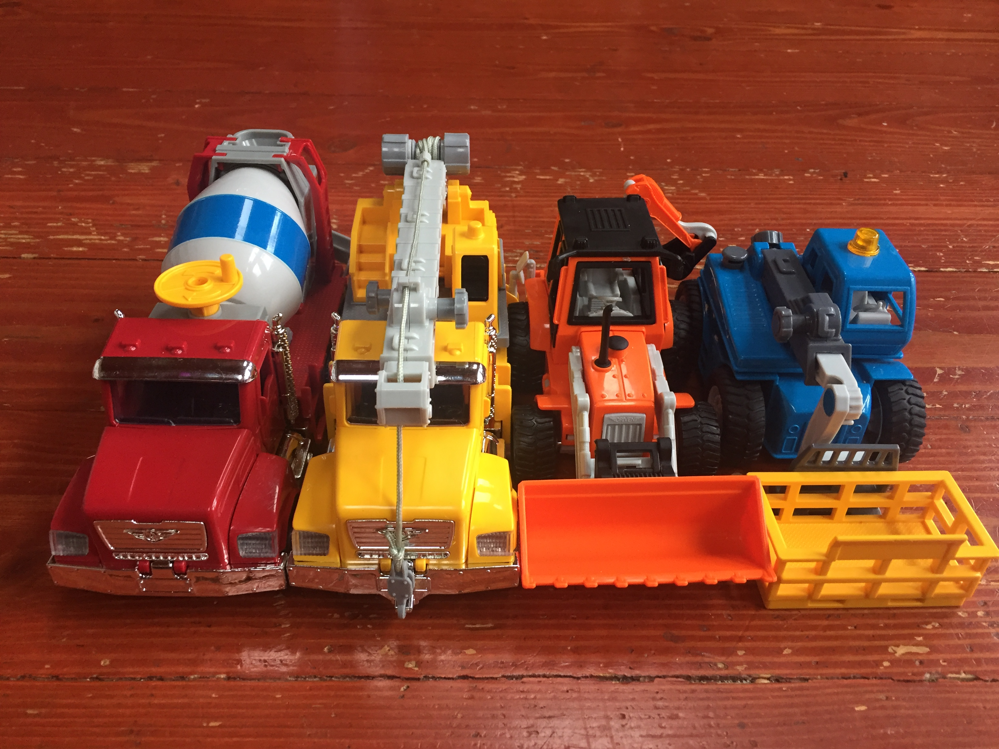 Driven by Battat Micro Series vehicles trucks cement mixer crane truck front loader