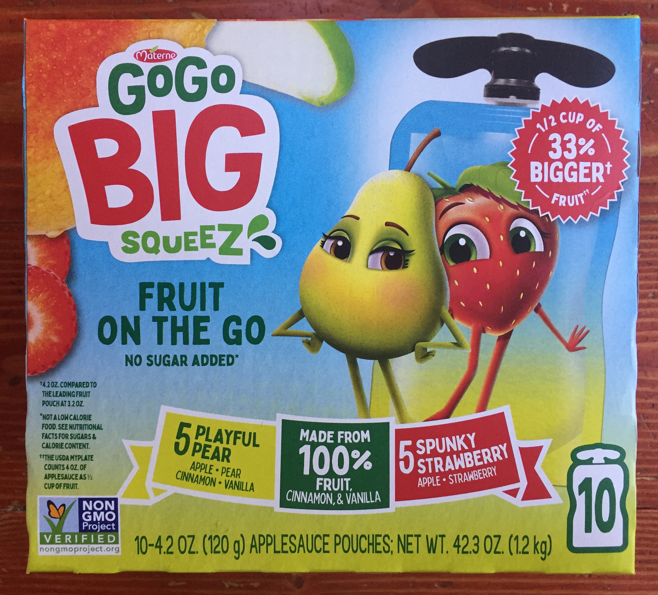 GoGo Big Squeez Fruit on the Go Pouches snacks for kids