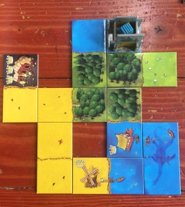 Kingdomino tiles to build five by five square