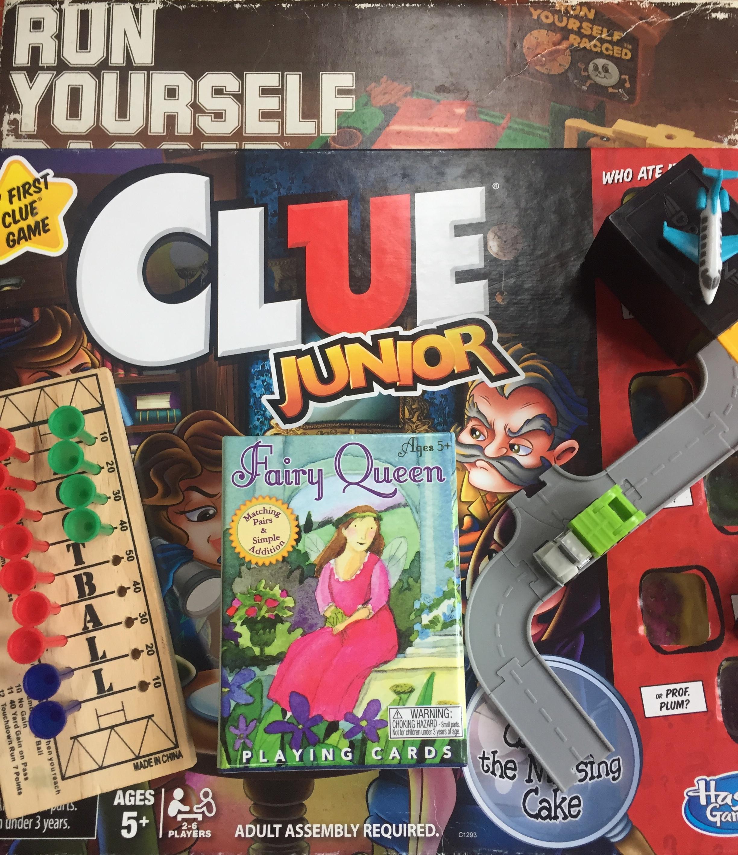 Run Yourself Ragged game Clue Junior