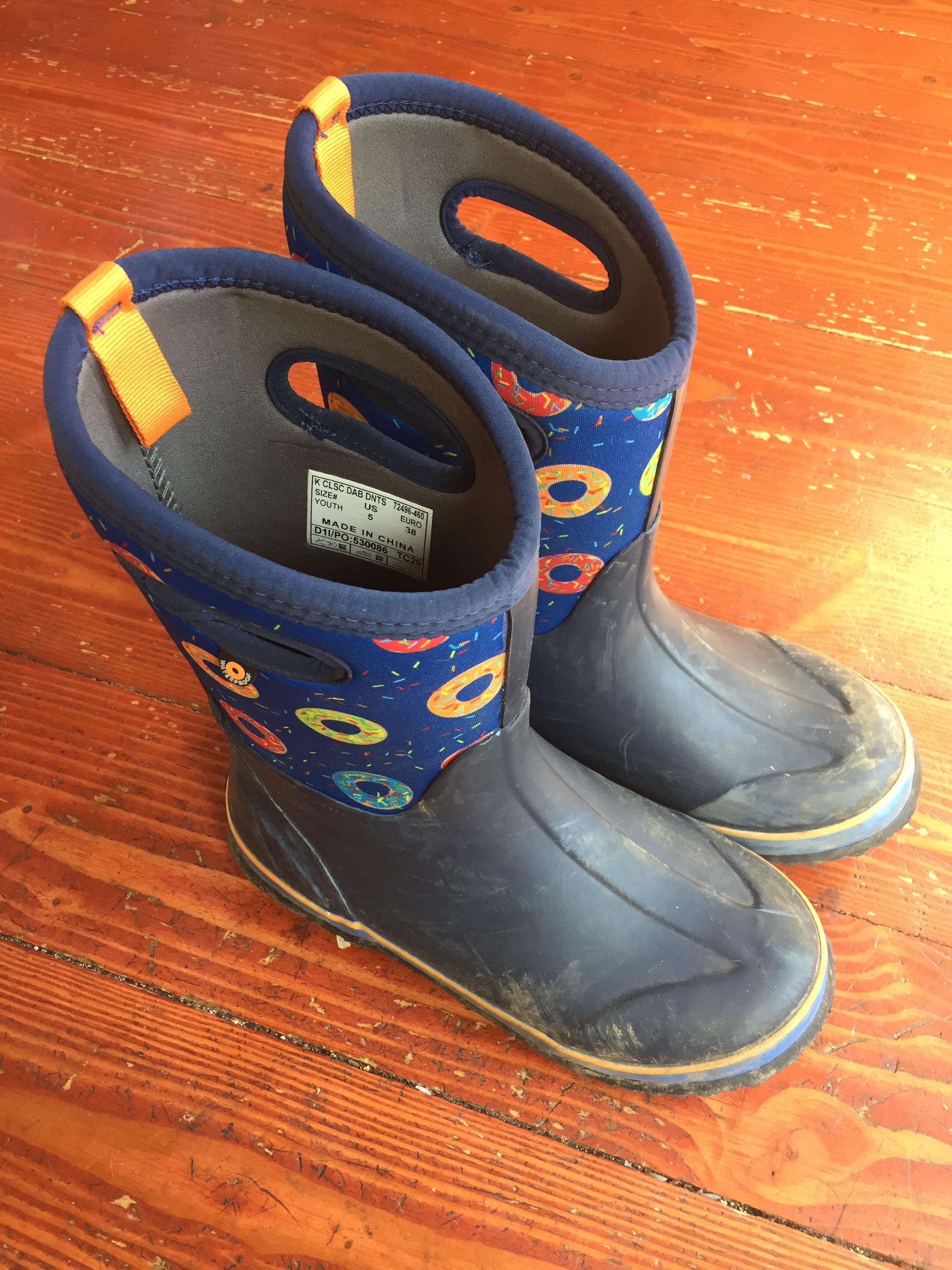 Bogs big kid insulated rain boots