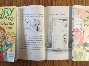 Page with text and illustrations from Dory