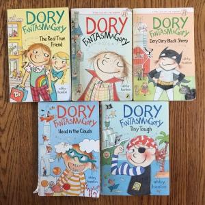 Five book series Dory Fantasmagory books by Abby Hanlon