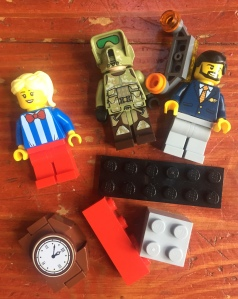 LEGO figures and brick pieces