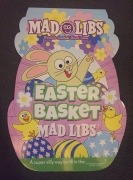 Easter Mad Libs easter basket shaped fill in the blank word game