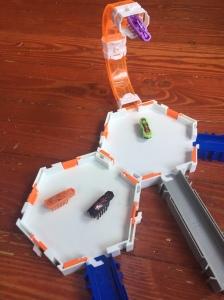 Hexbug Nano robotic bug toys on track