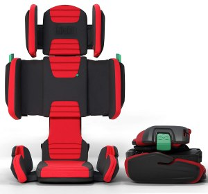 Mifold Hifold highback belt positioning booster car seat portable compact