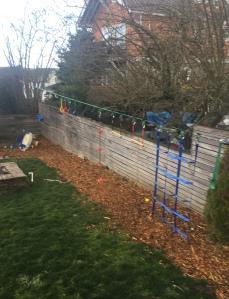 Branton ninja slackline warrior obstacle course set up in backyard