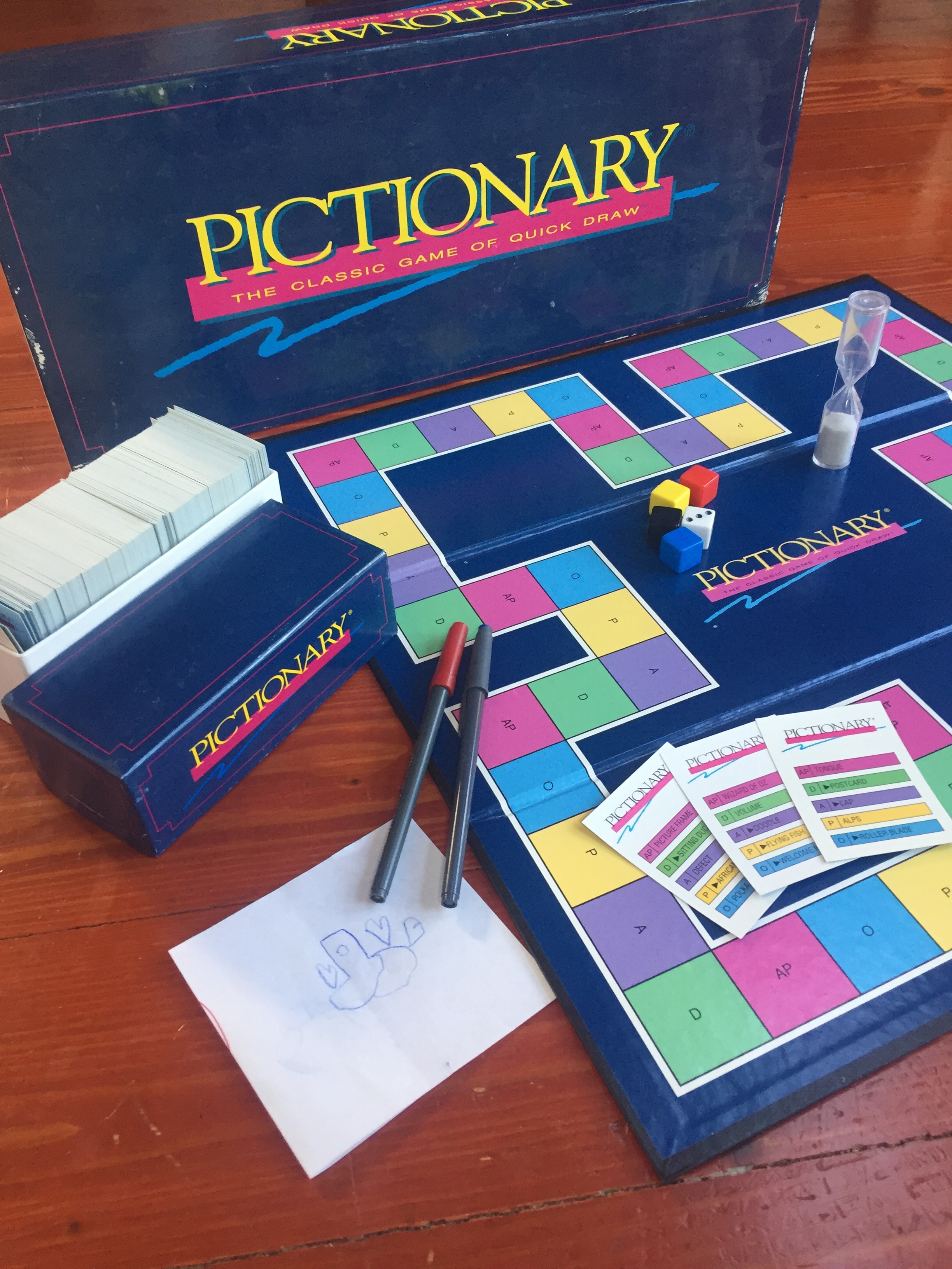 Pictionary original drawing board game