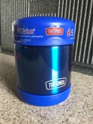 Thermos Funtainer food jar container ten ounce kid insulated in bright blue