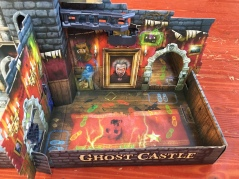Ghost Castle board game for kids set up