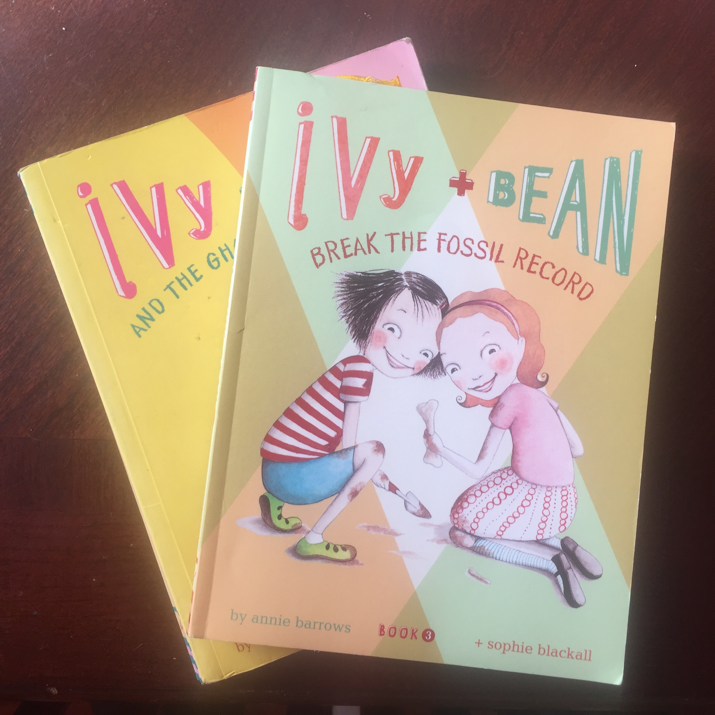 Ivy and Bean books by Annie Barrows Break the Fossil Record and The Ghost who