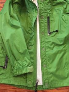 REI green kids rainwall jacket