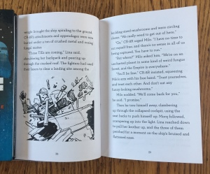 Star Wars Adventures in Wild Space chapter books for kids page excerpt with illlu