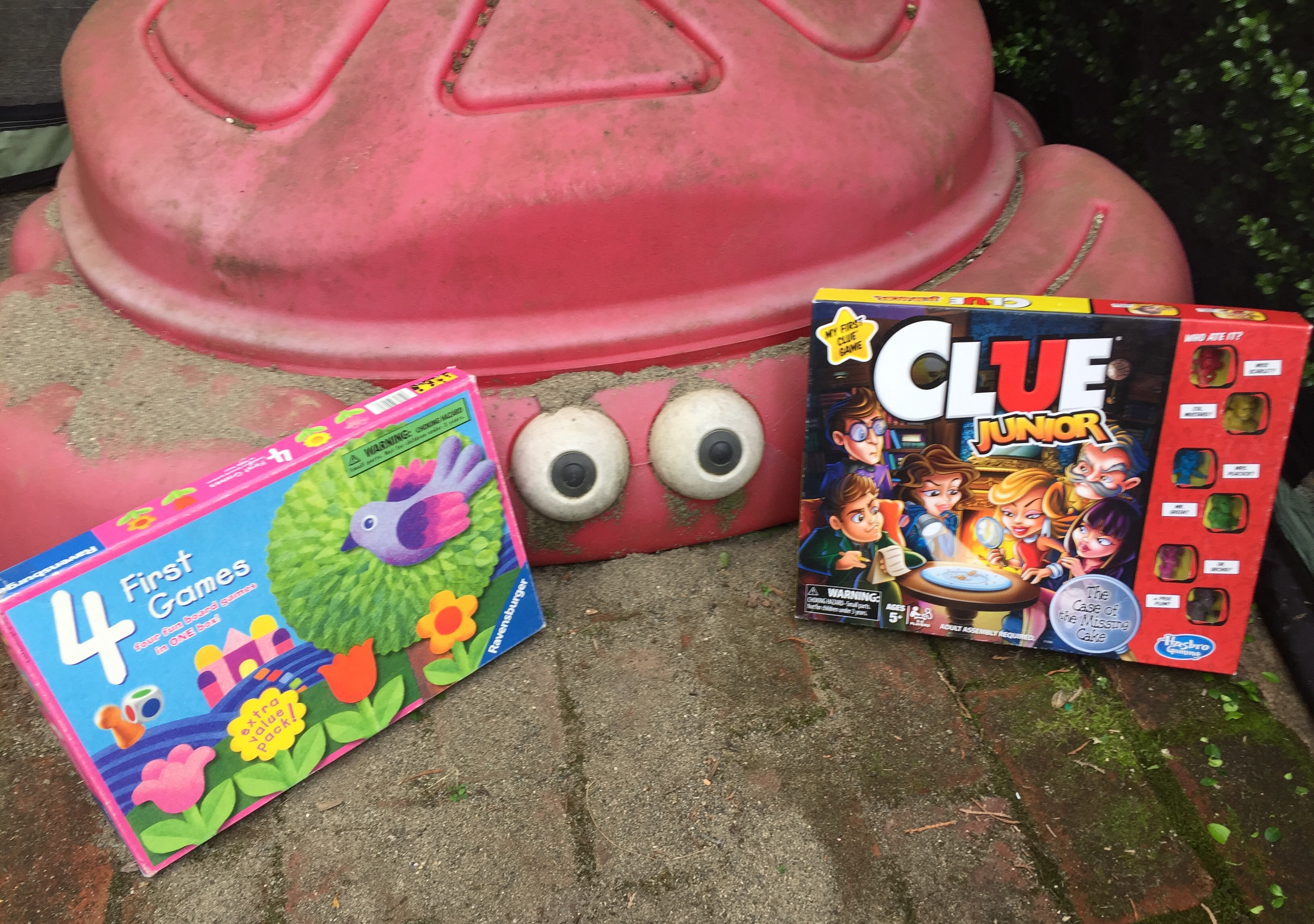 Four First Games by Ravensburger and Clue Junior