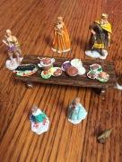 Wizkids miniature toys castle royal court set handpainted
