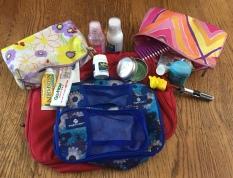 Packing essentials Eagle Creek Pack It Cubes first aid supplies toiletries bathroom
