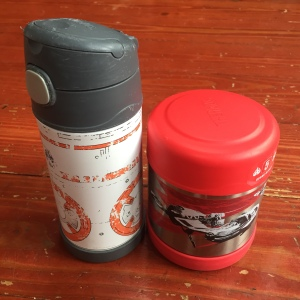 Star Wars BB8 Thermos insulated kid water bottle and rebel spaceships