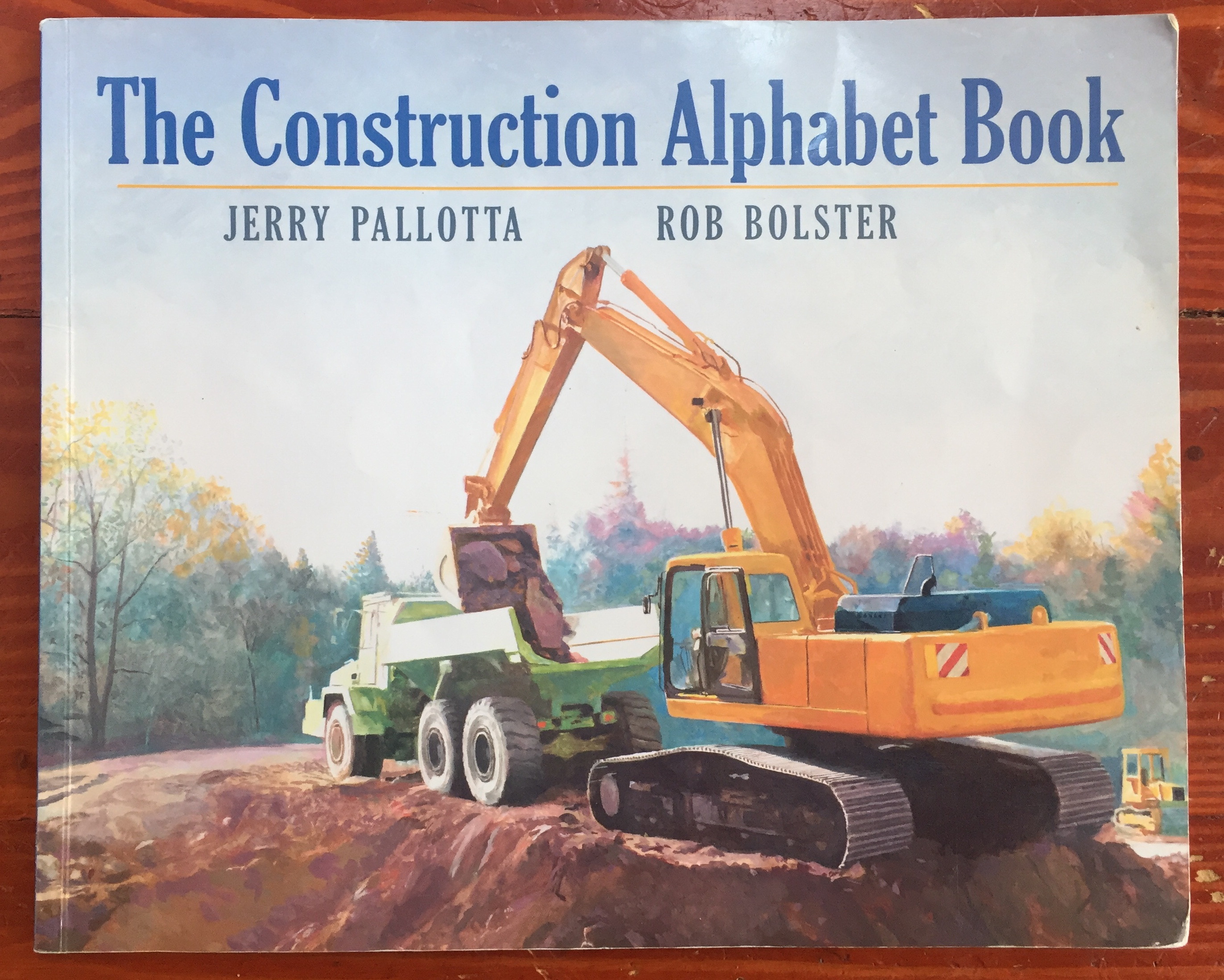 The Construction Alphabet Book by Jerry Pallotta picture book for kids