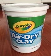 Crayola Air Dry Clay white in five pound bucket
