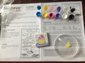 Magnetic Mini Tile Art DIY Kit for Kids instructions paint