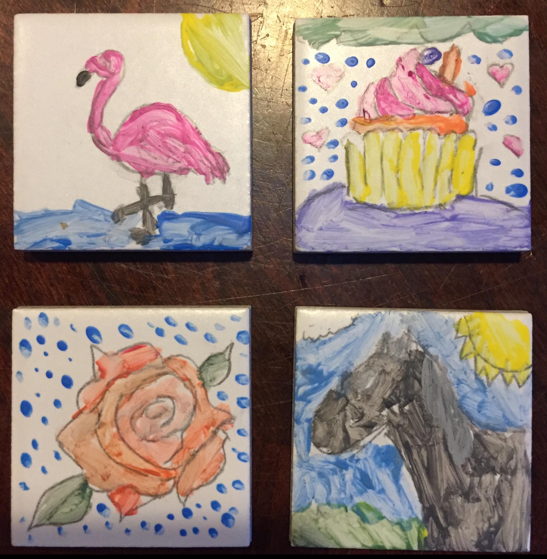 Magnetic Mini Tile Art DIY Craft Kit for kids