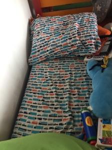 PIllowfort transporation themed orange and blue trucks sheet twin single sheet sheet Target
