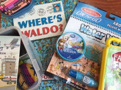 Where's Waldo book Water Wow Deluxe crayons in soap dish for travel Spot It! Frozen edition busy box for kids