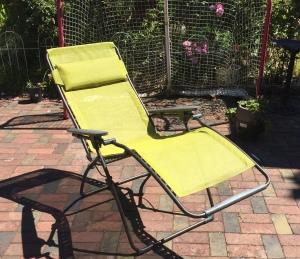 Lafuma lounga chair reclined in